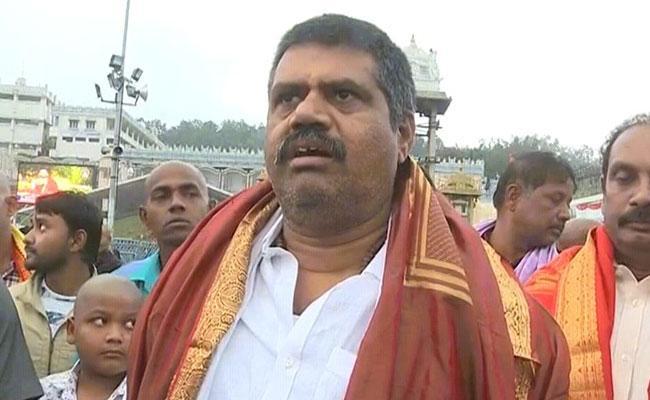 Avanthi Srinivas Speech In Tirumala About Conducting Rural Games - Sakshi
