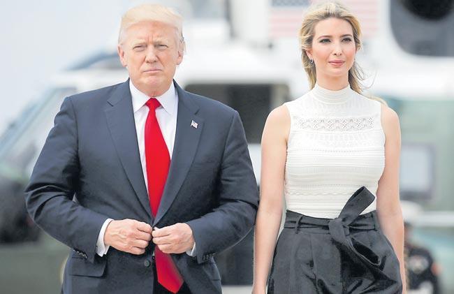 Ivanka Trump Her Husband To Accompany Donald Trump On India Visit - Sakshi