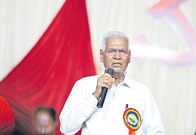 CPI Leader D Raja Fires On BJP Party - Sakshi