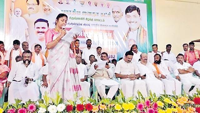 veerappan daughter vidya join in bjp - Sakshi