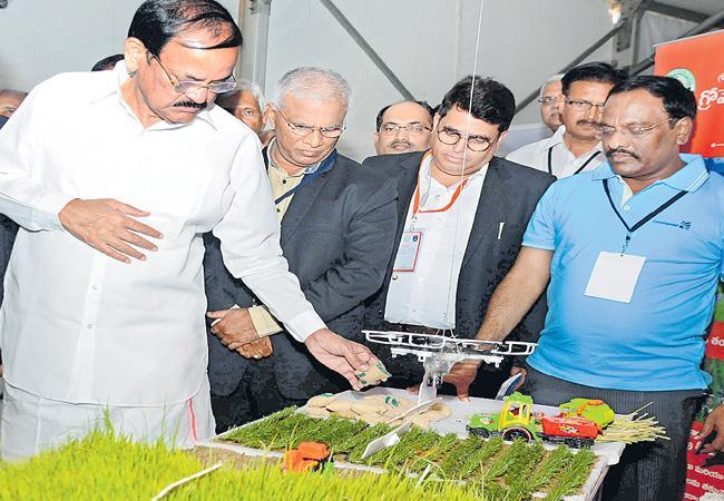 Venkaiah Naidu Attended For Agritech South Vision Programme - Sakshi