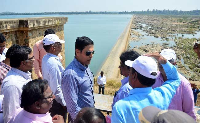 Irrigation Department Principal Secretary Rajat Kumar Visits Sitarama Project - Sakshi