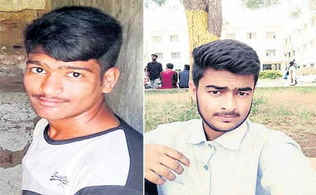 Two Young men Died in Bike Lorry Accident Hyderabad - Sakshi