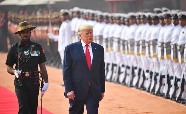 Donald Trump Visit Rashtrapati Bhavan - Sakshi