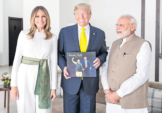 US President Donald Trump Speech In Namaste Trump Event - Sakshi