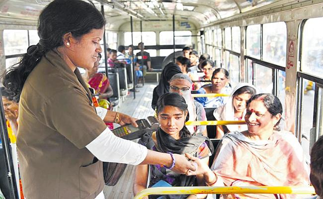 Huge number of people not taking tickets in RTC buses - Sakshi