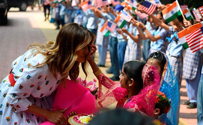 Melania Trump Visit Delhi Government School - Sakshi