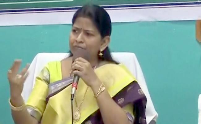 Taneti Vanita Talks In Review Meeting In Visakhapatnam  - Sakshi