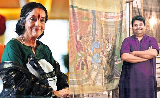 Ravi Varma Paintings in Khadi Cloths Designs - Sakshi