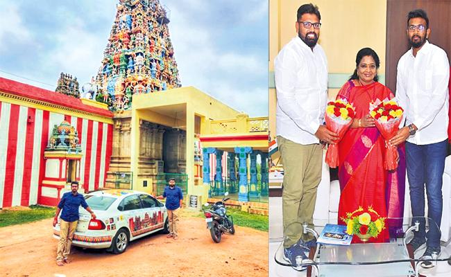 Hyderabad Brothers Visit 501 Temples in 49 Days - Sakshi