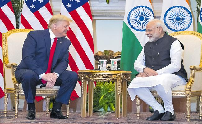 Donald trump India Visit: Trump Comments On Kashmir Issue - Sakshi