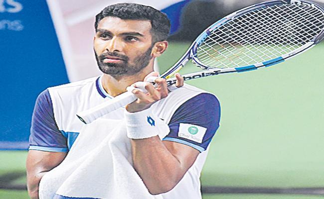 Prajnesh Gunneswaran Lost In Dubai Open ATP-500 Tournament - Sakshi