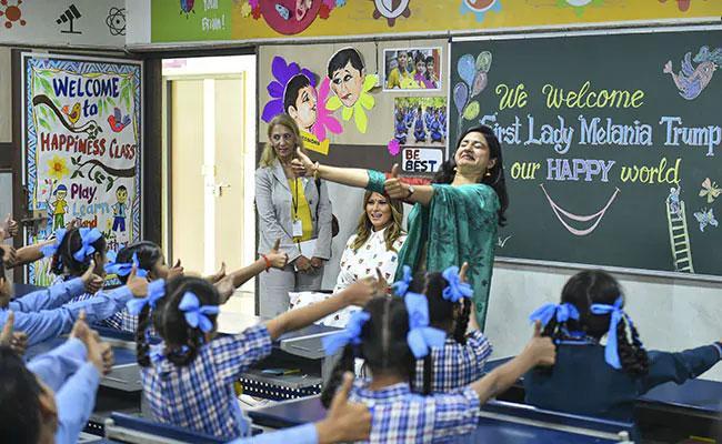 Melania Trump Is Happy With Programmes Conducted In Sarvodaya School In Delhi - Sakshi