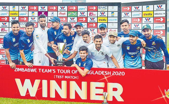 Bangladesh Won Against Zimbabwe In One Day Test - Sakshi