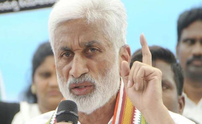 Vijay Sai Reddy Fires On Chandrababu Over Flex Issue - Sakshi