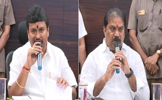 Vellampalli And Malladi Vishnu Comments On Chandrababu Naidu - Sakshi