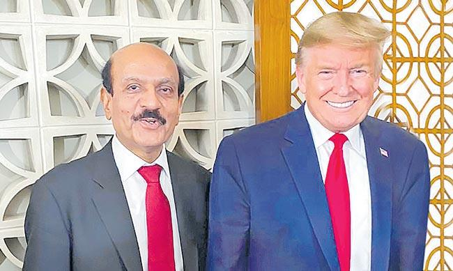 Siont Executive Chairman BVR Mohan Reddy meets to Donald Trump - Sakshi