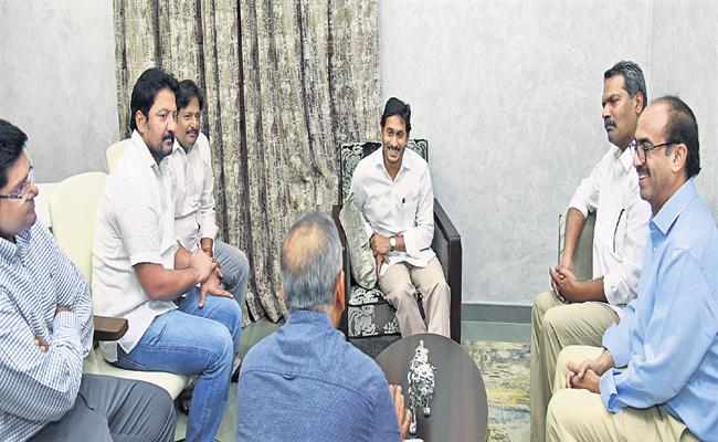 Telugu Film Producers Meets CM YS Jaganmohan Reddy - Sakshi