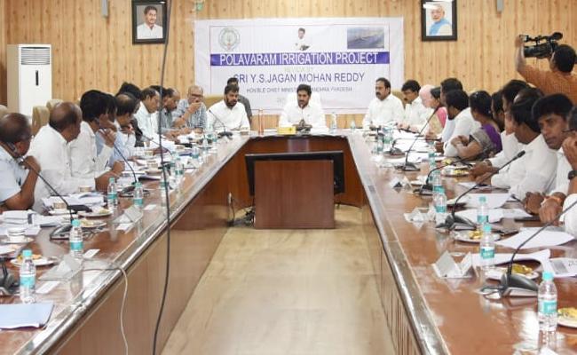 YS Jagan Review Over Polavaram Project Works - Sakshi