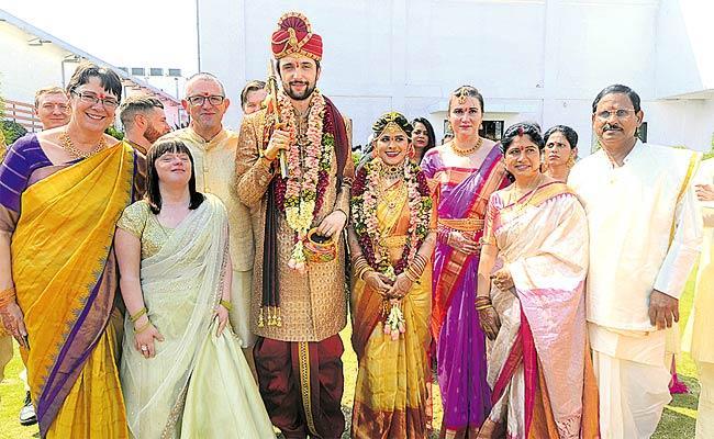 Sindhuja And Benjamin David Tie the Knot In Hyderabad - Sakshi