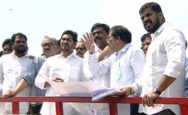 CM YS Jagan Inspects polavaram Project Works In West Godavari District - Sakshi