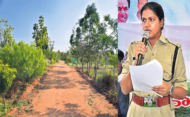 Kamareddy Police Plants 3500 Haritha Vanam SP Swetha - Sakshi