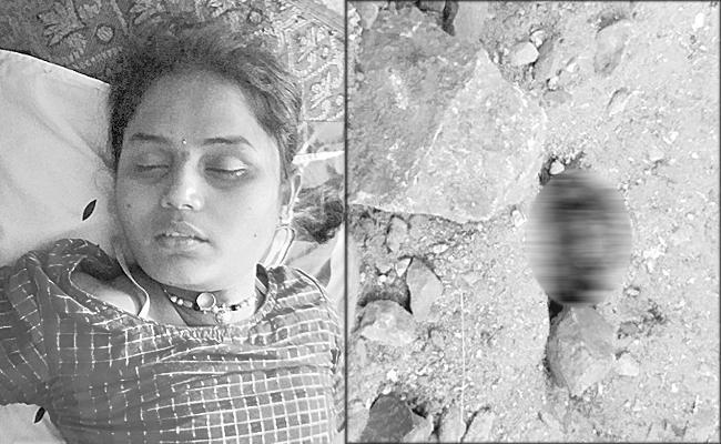 Brutal Murder Of A Young Man In Gadwal - Sakshi