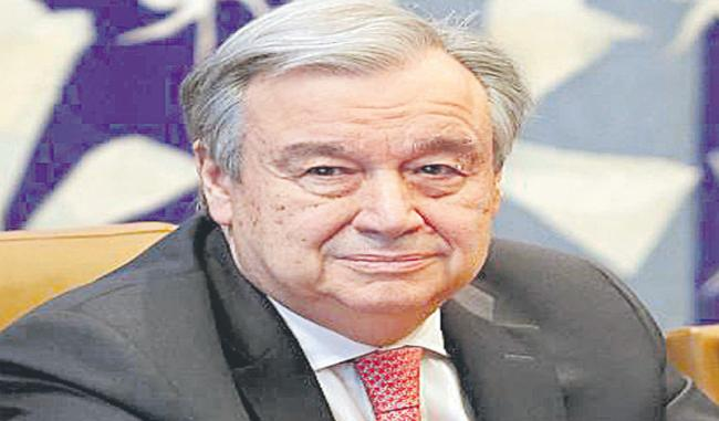 United Nations Secretary General Antonio Gutierrez Expressed Concern Over Riots In Delhi - Sakshi