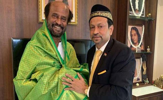 Haj Committee Chairman Abubakar Meets Actor Rajinikanth - Sakshi