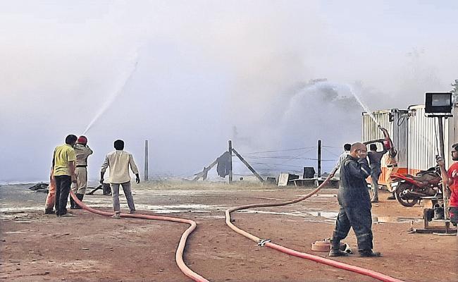 Gas blowout in Konaseema - Sakshi