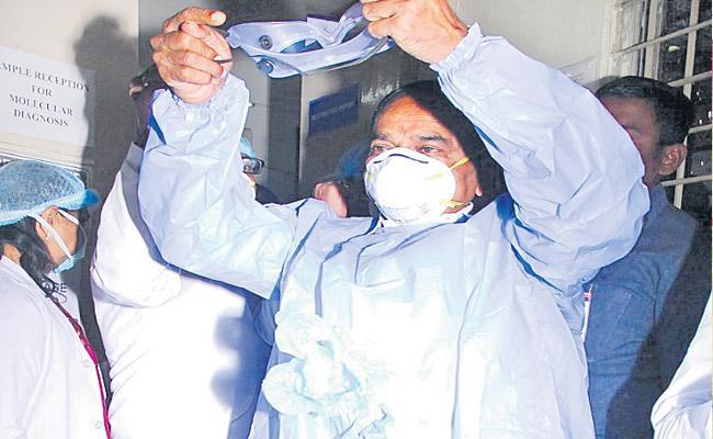 Coronavirus: New Virology Test Lab At Gandhi Hospital In Hyderabad - Sakshi