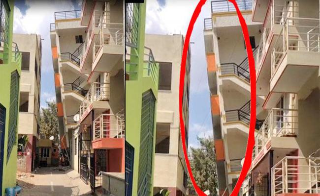 Four Floors Building Falling Down in karnataka - Sakshi