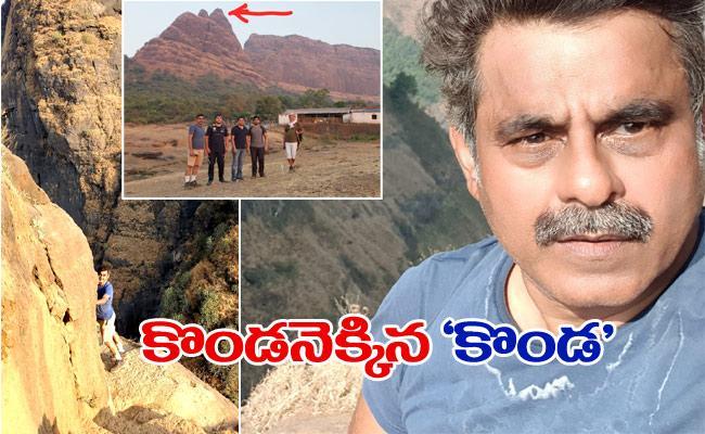 Konda Vishweshwar Reddy Climbs Kalavantin Durg - Sakshi