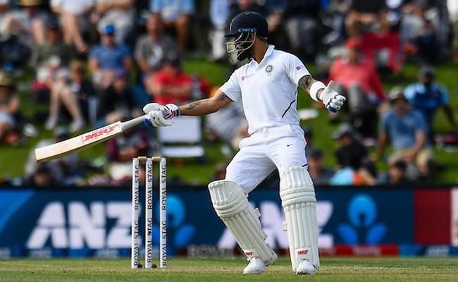 IND VS NZ 2nd Test: Kohli Bad Form Continue The Departed on 14 Runs - Sakshi