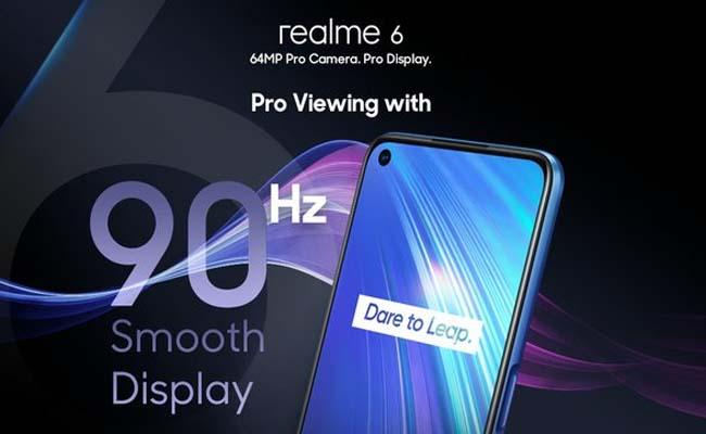 Realme 6 goes on first sale from March 11 - Sakshi