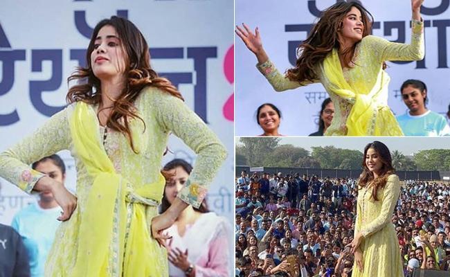 Janhvi Kapoor Dance To Zingaat Song - Sakshi