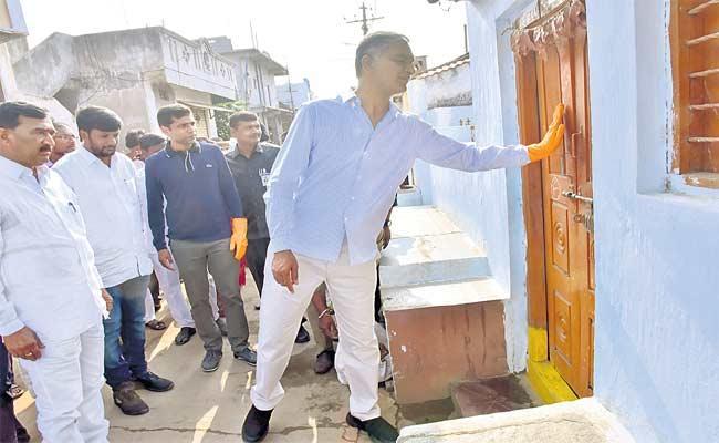 Minister Harish Rao Visited Siddipet On Tuesday Morning - Sakshi