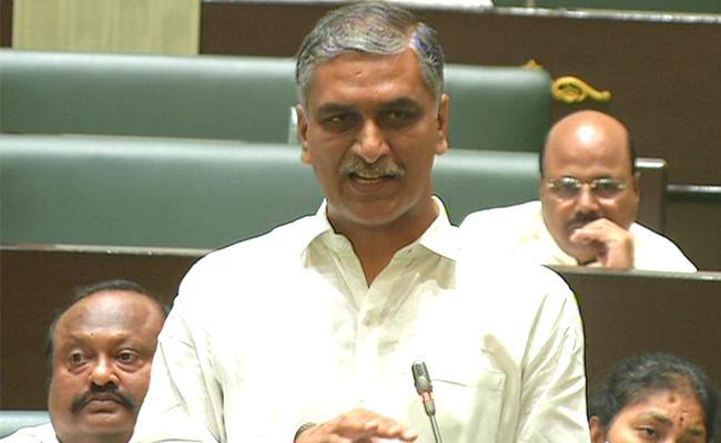 Telangana Assembly Sessions Harish Rao Critics Congress Members - Sakshi
