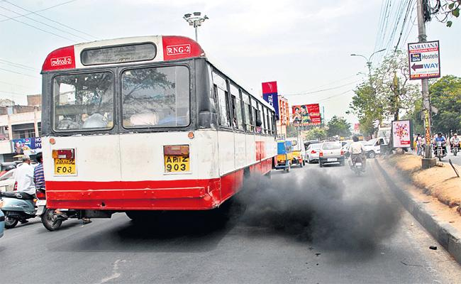 Increased Air pollution in Hyderabad - Sakshi