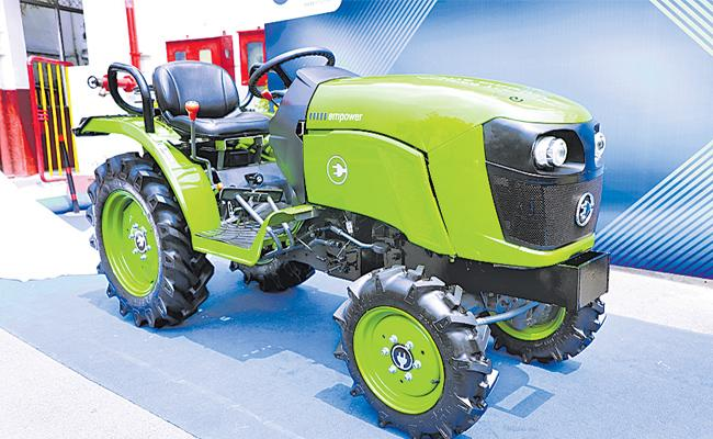 India First Electric Tractor Launch in Hyderabad - Sakshi