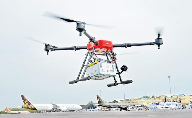 Telangana Is The First State To Provide Medical Services Through Drones - Sakshi