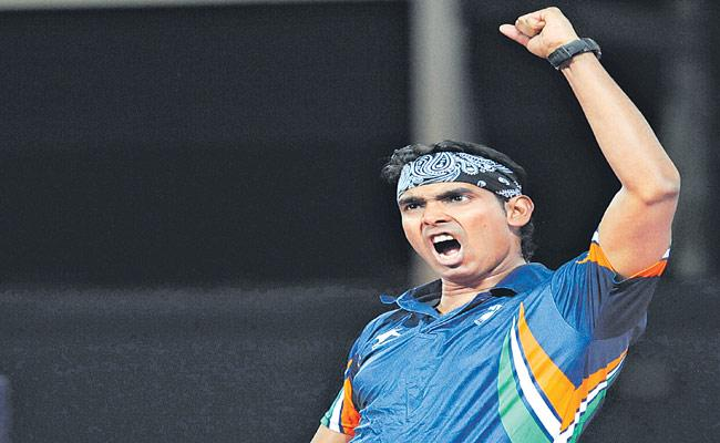 Oman International Title After Ten Years For Sharath Kamal - Sakshi