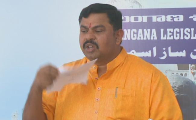 BJP MLA Raja Singh Fires On KCR Over TRS Resolution Against CAA - Sakshi