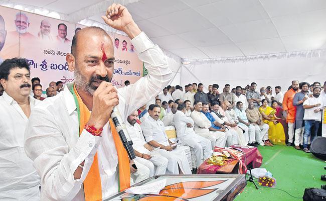 Telangana BJP President Bandi Sanjay Welcome Celebrations At Hyderabad - Sakshi