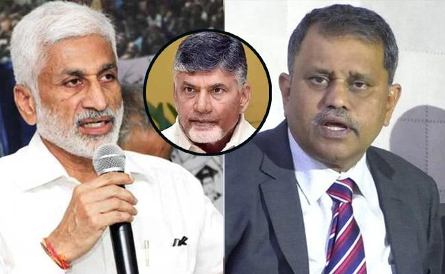 Vijaya Sai Reddy Critics Chandrababu And AP Election Commissioner - Sakshi
