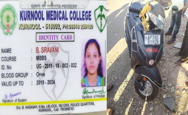 MBBS Student Sravani Deceased in Bike Accident Kurnool - Sakshi