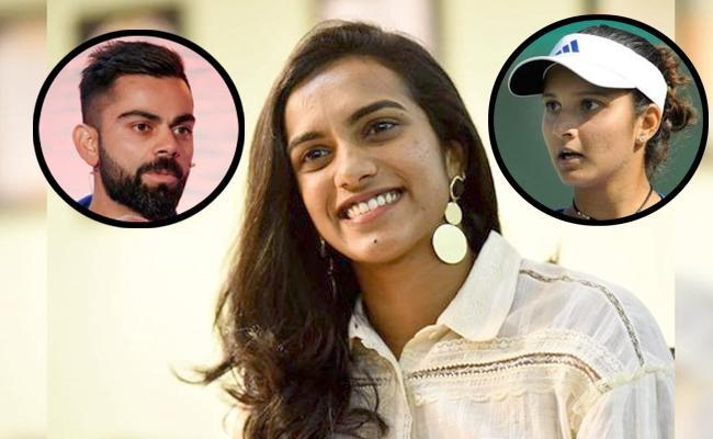 PV Sindhu safe Hands Challenge To Virat Kohli And Sania Mirza - Sakshi