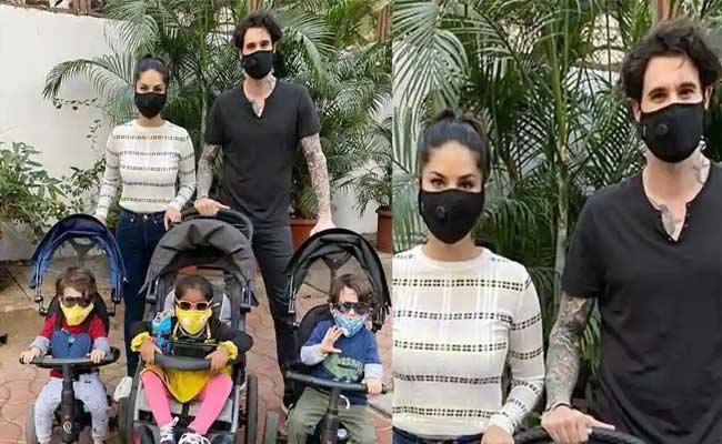 Sunny Leone Shares Family Mask Photo Over Corona Amid - Sakshi