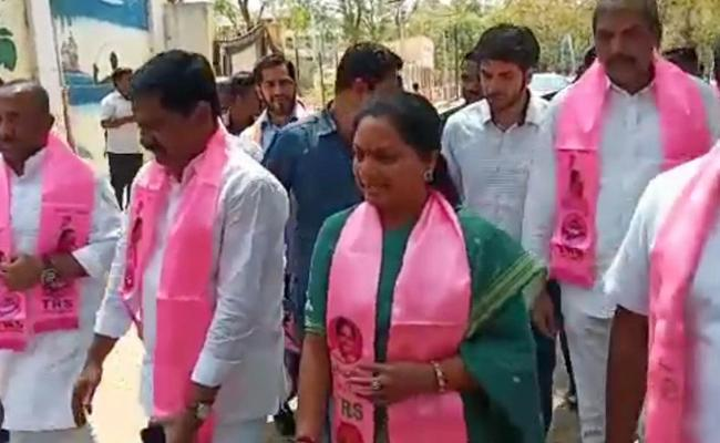 Kalvakuntla Kavitha Filed Namination For MLC Nizamabad - Sakshi