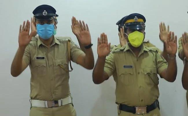 Viral Video: Kerala Police Dance Video Of Handwashing About Corona - Sakshi